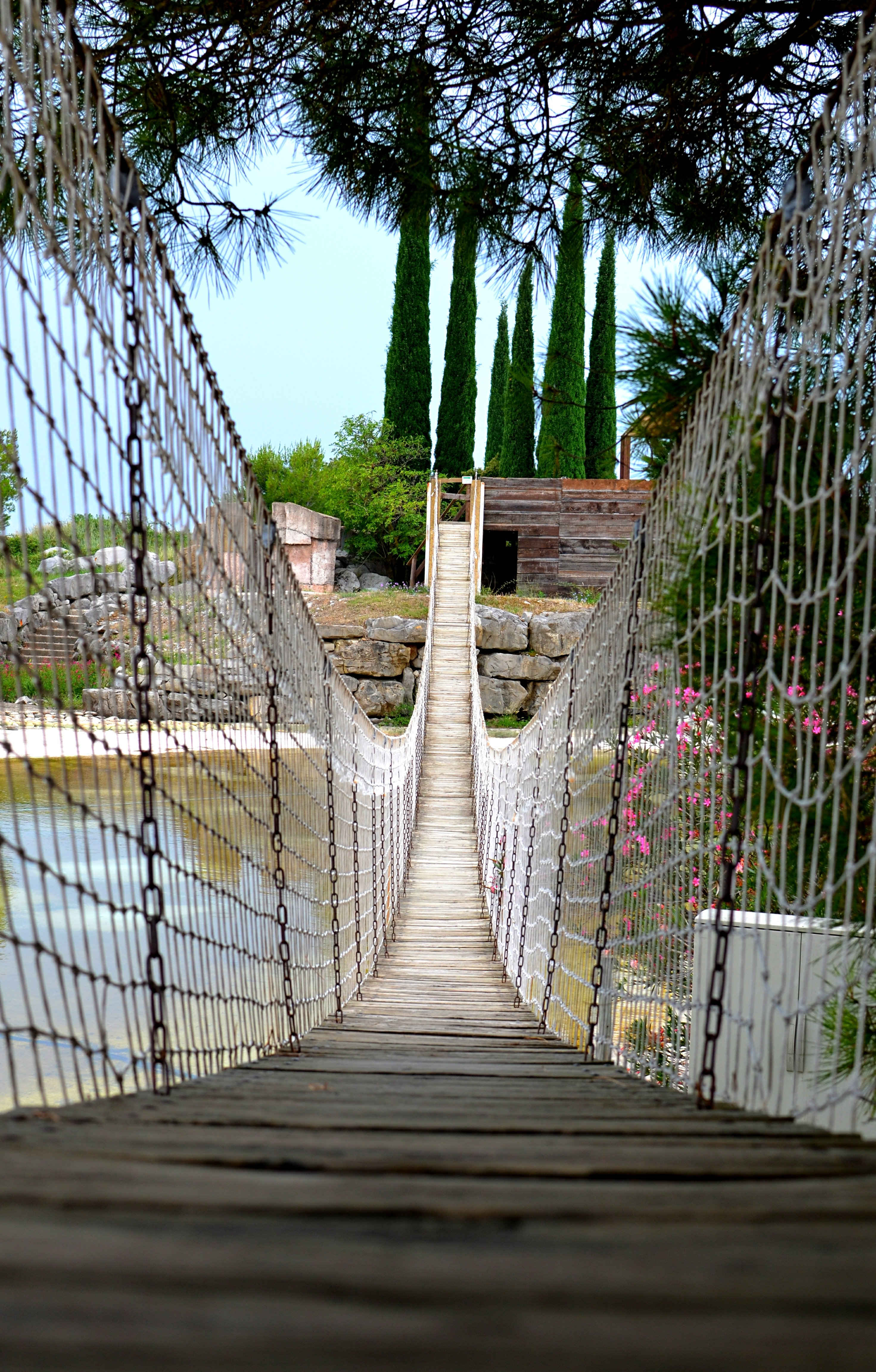 pont suspendu parc de loisirs à vendre